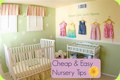 Cheap Nursery Decorating Ideas Cheap And Easy Nursery Tips Baby Room Ideas