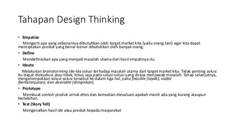 Design Thinking Dalam Kewirausahaan | design thinking