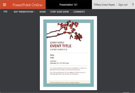 Flyer Powerpoint Template Spring Flyer Template For Powerpoint Online