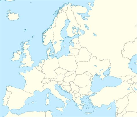 map without country names europe mapofmap1 sayfa 4