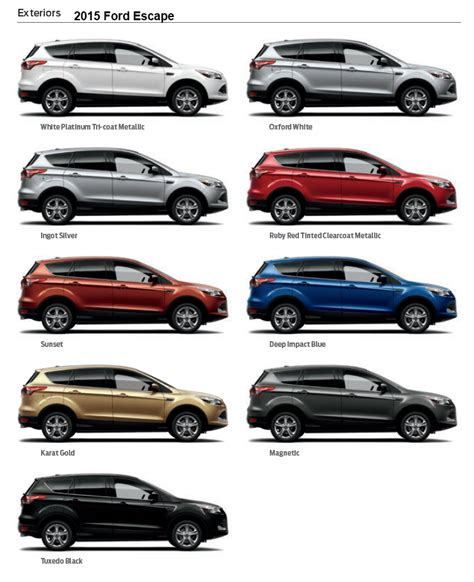 2015 ford escape exterior colors www pixshark images galleries with a bite