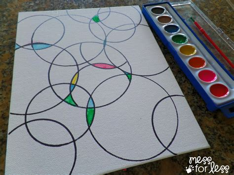 art projects watercolor circle art mess for less