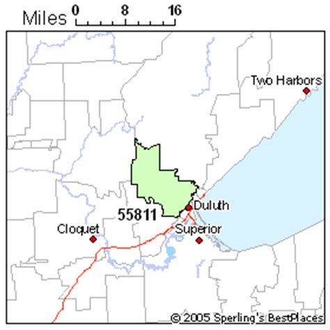 zip code map duluth mn best place to live in duluth zip 55811 minnesota