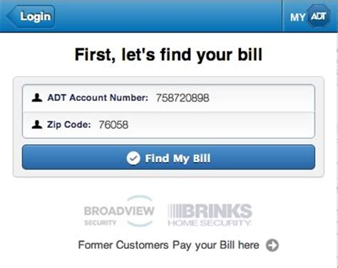 adt home security bill payment account access