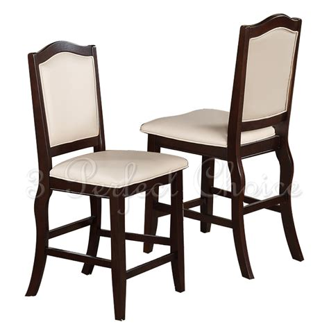 Counter High Dining Chairs 2 Pc Dining High Counter Height Side Chair Bar Stool 24 Quot H Upholstered Seat