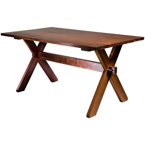Rudes Furniture by Rude Osolnik Walnut Craft Dining Table Usa 1960s For Sale At 1stdibs