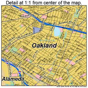 oakland california map 0653000