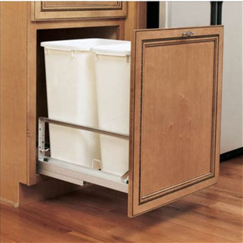 pull out trash can for 12 inch cabinet pull out built in trash cans cabinet slide out