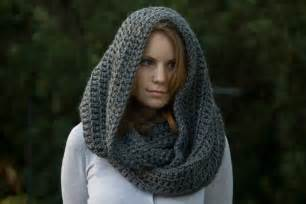Hooded Infinity Scarf Crochet Pattern Oversized Hooded Infinity Scarf Cowl