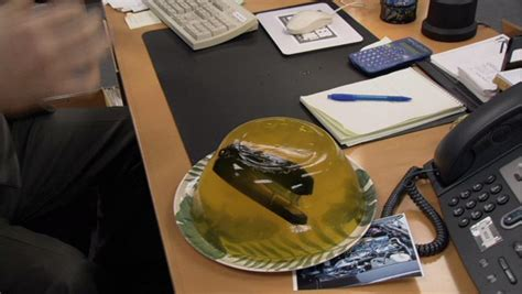 Office Supplies In Jello Office Pranks Pictures