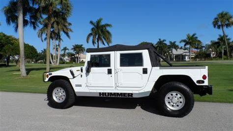 how to sell used cars 1999 hummer h1 transmission control purchase used 1999 hummer h1 6 5l turbo diesel convertible suv 4x4 in boca raton florida