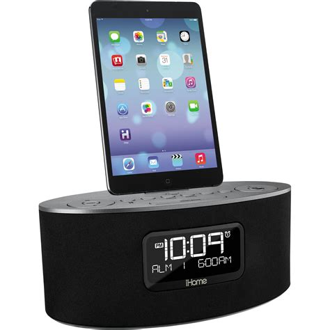 i home ihome idl46 stereo dual alarm clock radio ipad iphone