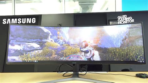 Samsung 49 Monitor by Samsung 49 Quot Chg 90 Ultrawide Hdr Qled Gaming Monitor Behemoth