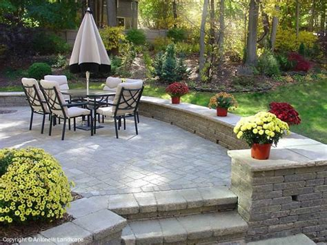 backyard stone ideas brick paver patio designs brick patios michigan brick