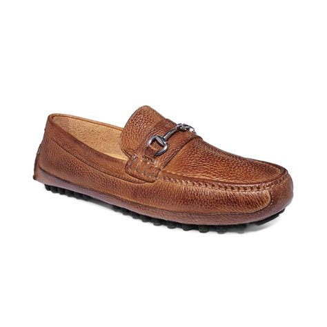 cole haan loafers for cole haan grant canoe bit loafers in brown for lyst