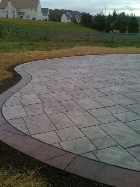 Patio Borders by Sted Concrete Patio W Border Sted Concrete Patio W