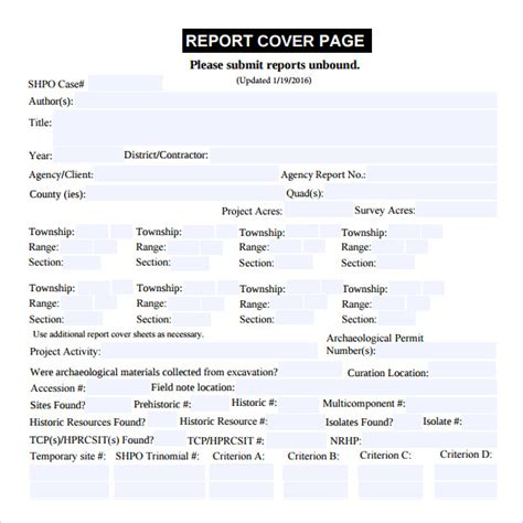 report cover page template sle report cover page 11 documents in pdf
