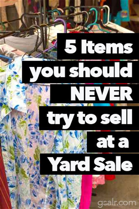 What Sells At Garage Sales by What You Shouldn T And Should Sell At A Yard Sale