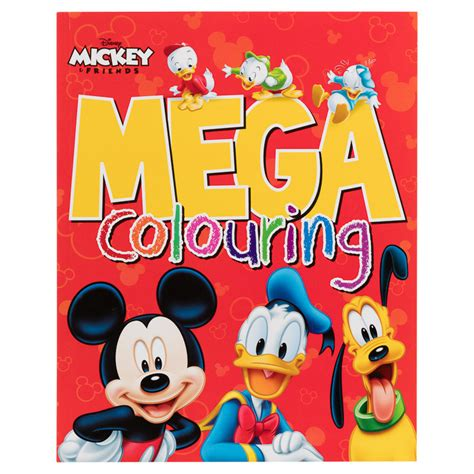 Book Storage Kids mega colouring books mickey mouse kids arts amp crafts
