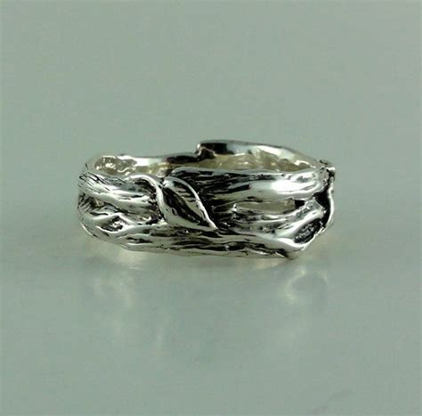 twig ring on pinterest branch ring twig engagement sterling silver leaf twig wedding band tree branch ring