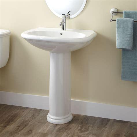 kennard porcelain pedestal sink bathroom