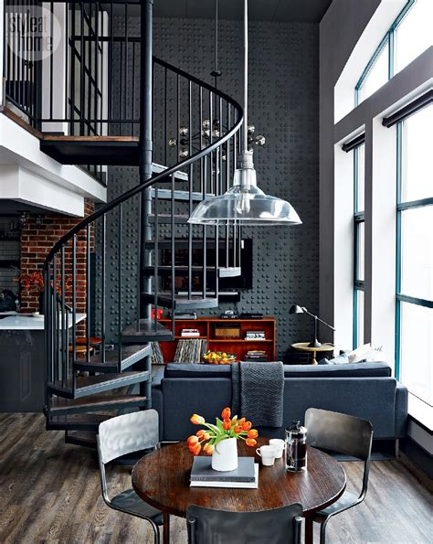 industrial home design uk loft tour retro industrial design spiral staircases