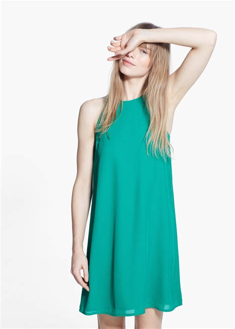Preloved Dress Mango 2 mango sleeveless dress in green lyst