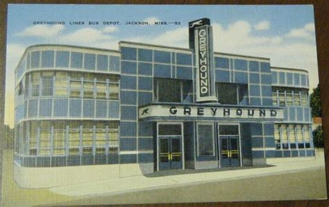 greyhound lines depot jackson ms deco vintage