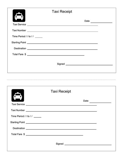 Luxor Cab Receipt Template by Taxi Receipt Template
