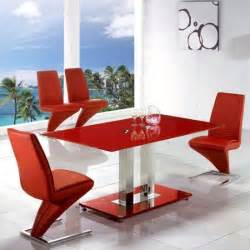 Rectangle Dining Room Sets Red Glass Dining Table Homehighlight Co Uk