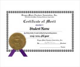 Merit Award Certificate Template by Sle Merit Certificate Template 10 Free Documents In Pdf