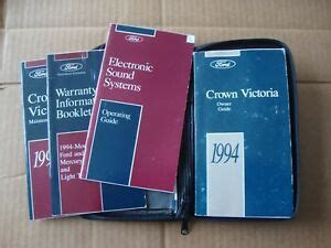 ford crown victoria owners manual original complete  case ebay