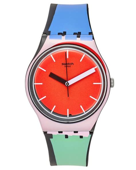 swatch unisex swiss sport mixer multi color silicone