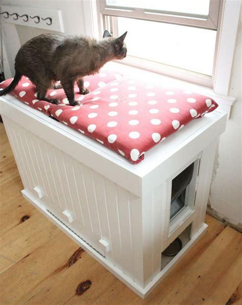 cat litter bench 25 cool ways to hide a cat litter box digsdigs