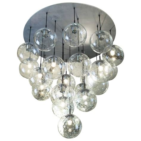 1970s Huge Glass Balls Chandelier By Raak Amsterdam For Chandelier Glass Balls