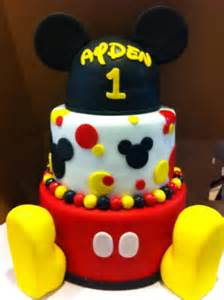 Baby Themed Cake Decorations - mickey mouse birthday cake best images collections hd for gadget windows mac android