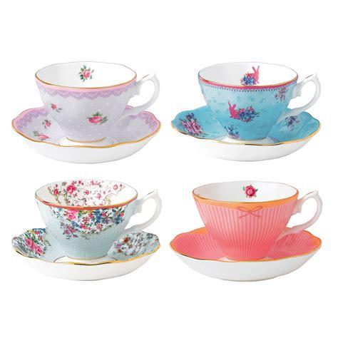 royal albert royal albert collection teacup saucer set 8pce