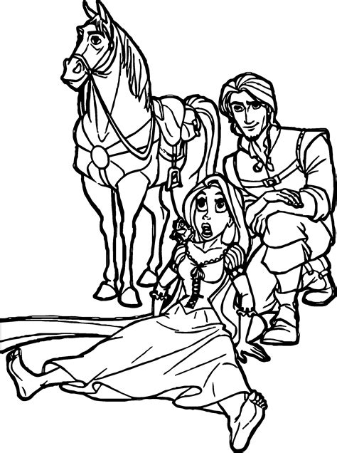 Flynn And Maximus Coloring Pages Coloring Pages Rapunzel And Flynn Coloring Pages