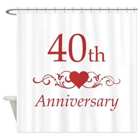 40th anniversary color 40th wedding anniversary shower curtain by pixelstreetann