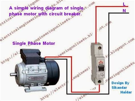 how to wire a switched single phase motor using circuit
