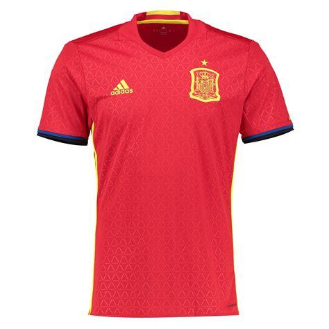 T Shirt Spain 1 adidas mens spain football team home shirt jersey kit top