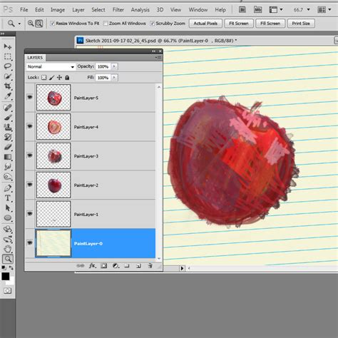 sketchbook pro new layer an apple a day day 1 sketchbook pro crafting goodness