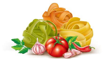 italian pasta with vegetables design vector 04 free download