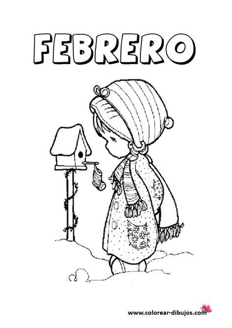 Dibujos del mes de febrero para imprimir y pintar