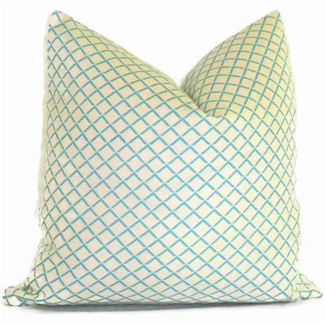 quadrille venice blue terrace pillow cover square or