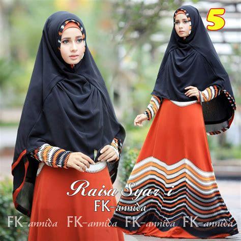 Khimar Raisya Jersey Raisa 5 Baju Muslim Gamis Modern
