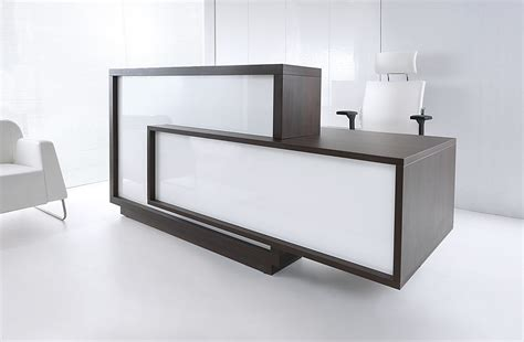 How To Make A Reception Desk White Reception Desk For Modern Office Ideas With Attractive Design Nytexas