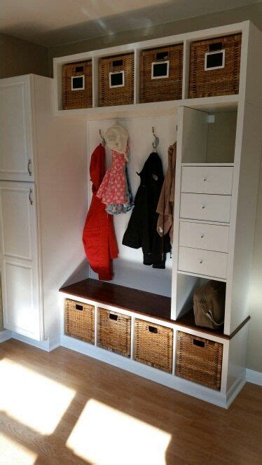 ikea mudroom hacks ikea hack mudroom bench 3 kallax shelving units and