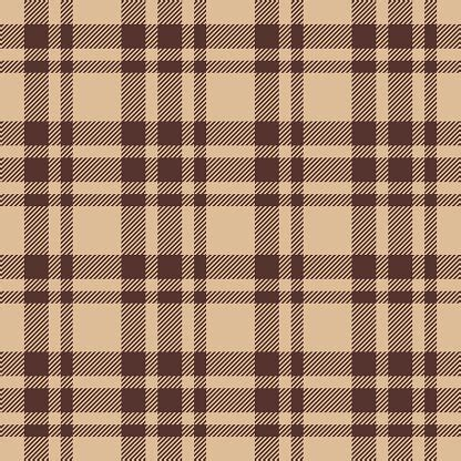 beige brown check plaid seamless fabric texture vector images