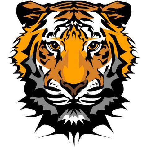 avatar kartun bahan kepala harimau vektor hewan vektor gratis gratis
